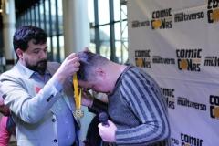 Daniel HDR sendo homenagedo na ComicCon RS